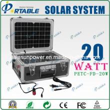 20W Solar Energy Power Generator / Portable Solar Home Lighting System (PETC-FD-20W)