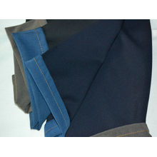 Blue Polyester Denim Jean Fabric Cloth For Shoes , Bag , Trousers Jb007