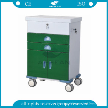 AG-GS005 Dark Green series hospital clinic therapy serving medical cart with wheels