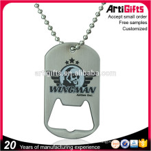 High Quality Printing Logo Metal Dog Tag Bottle Opener
