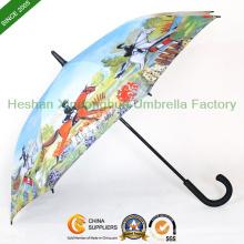 Individuelle Foto Qualität gedruckt Golf Regenschirme (GOL-0027FA)