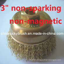 High Quality Crimped Brass Cup Brush (YY-318)