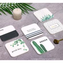 Coaster de tasse de diatomite personnalisé respectueux de l'environnement