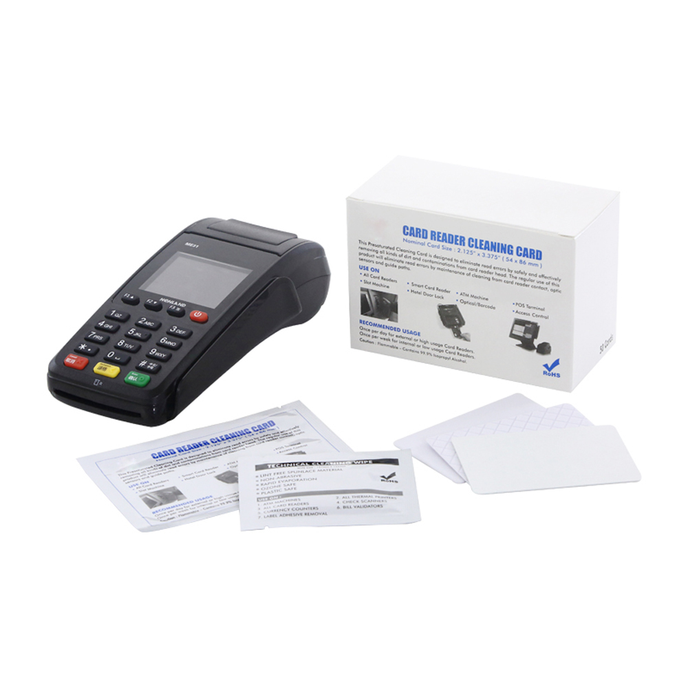 EZ credit card reader cleaning cards