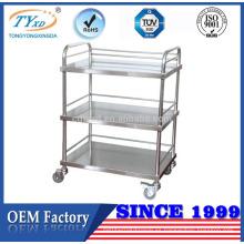 carrito de transporte de mano de muebles médicos de acero