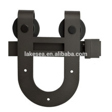 U Shaped Black Barn Door Hardware, hängen Schiebetür Hardware