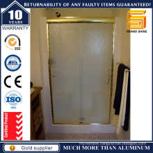 Aluminum Tempered Glass Double Sliding Shower Door