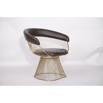 Poltrona in pelle Warren Platner