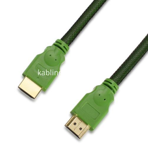 Black nylon net HDMI Cable-1