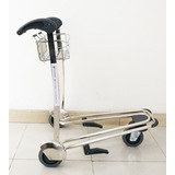 Airport 3 Wheels Stainless Steel Baggage Trolley