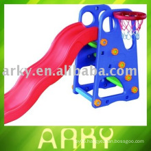 Children's Plastic Toy Slide With Basketry