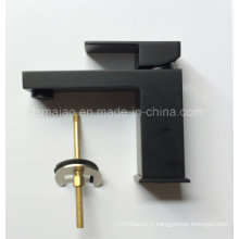 Mélangeur de bassin en laiton carré de levier unique de filigrane (HD4203BS)