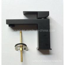 Misturador de lavatório de latão quadrado de alavanca única marca d'água (HD4203BS)