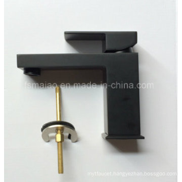 Watermark Single Lever Square Brass Basin Mixer (HD4203BS)