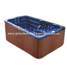 Outdoor free standing hydrotherapy whirlpool massage acrylic spa hot tub (M-3337)