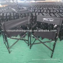 En aluminium, chaise, acier directeur directeur chaise pliante