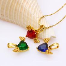 31608 moda elegante mulheres banhado a ouro pingente de jóias com CZ sintético
