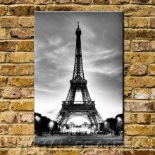 Pintura vertical da parede de Paris Eiffel