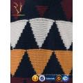 Camisolas de caxemira feitas à mão de Intasia coloridas personalizadas masculinas