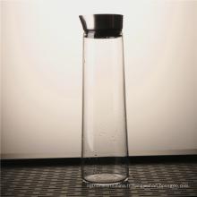 Cruche d'eau de verre clair résistant à la chaleur promotionnel avec le couvercle