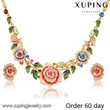 Мода роскошный 18k позолоченный имитация цветок комплект ювелирных изделий с горный хрусталь (с-8)