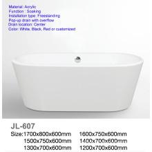 Mini banheira acrílica oval autônoma