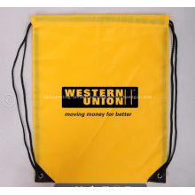 Personalizado Drawstring bolsos del poliéster 210T