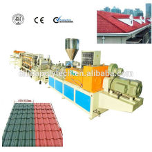 PVC-Dachziegel-Verdrängungs-Linie / PVC-Plastikdachplatte der hohen Qualität, die Maschine herstellt