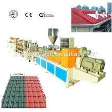 Teja de tejado plástica de alta calidad de la protuberancia de la azotea de PVC / teja de plástico del pvc que hace la máquina