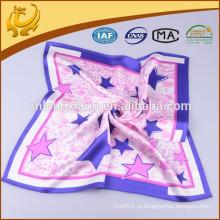 Novo estilo de moda mais novo e quadrado 100% de material de seda, cachecol de seda com vários padrões de seda