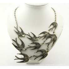 Fashion Rhinestone Swallow Colliers Alloy Necklace FN106