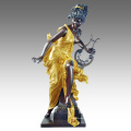 Grande Figure Statue Fée Décoration Bronze Sculpture Tpls-050