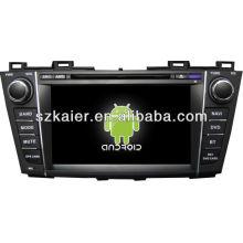 Система DVD-плеер автомобиля андроида для модели mazda5 с GPS,Блютуз,3G и iPod,игры,двойной зоны,управления рулевого колеса