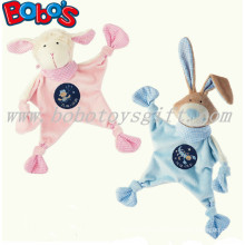 23cm Pink Lamb Plush Baby Comforter Toy Stuffed Blue Rabbit Bunny Baby Doudou