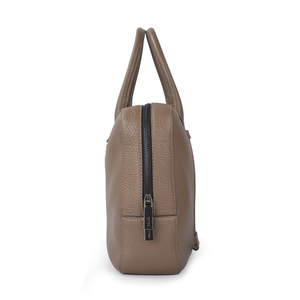 high quality business soft brown men and women elephant leather bag