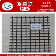 Geogrelha de fibra de vidro com alta resistência