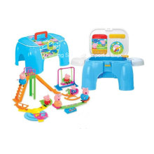 Stool Play Set Toy with Lovely Animal-Pig