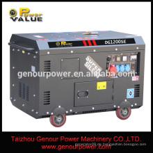 Leistungswert 380V 10kw stille elektrische Generatoren