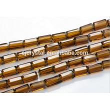 2015 Chine nouvelle conception bon marché réfléchissant verre forme rectangulaire perles