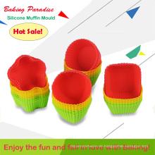 Heißer Verkauf Candy Farbe Nützlich Home Tool Food Grade Muffin Back Silikonformen