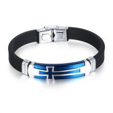 Bracelete de borracha cristão do silicone do bracelete conhecido feito sob encomenda da bola da faixa do nome