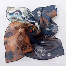 Квадрат имитирует silk шарфы новая мода имитирует silk квадратный малый шарф