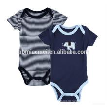 Großhandel Mazarine Günstige Baby Boy Kurzarm Strampler Boutique Streifen Kleidung Kleinkinder Jumpsuits Baby Strampler Set