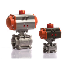 Dn25 Single Acting 2 Way Pneumatic Actuator Ball Valve