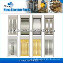 Panel de puerta de ascensor de acero inoxidable estándar, puerta de coche de ascensor