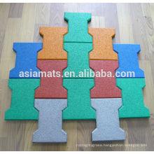 Colorful EPDM rubber tile paver