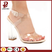 high heels fashion women summer PVC Sandals