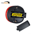 Botão de controle da bateria LED de segurança Luz traseira de bicicleta