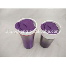 meilleure vente de produits en Amérique double paroi en céramique tasse à café, tasse en céramique créative