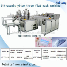 automatic mask blank machine with ear-loop welding machine